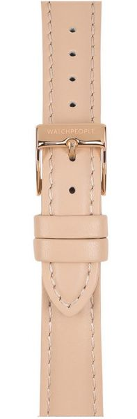 Watchpeople SWP16L-013 16mm Lederband Stitch Rosa