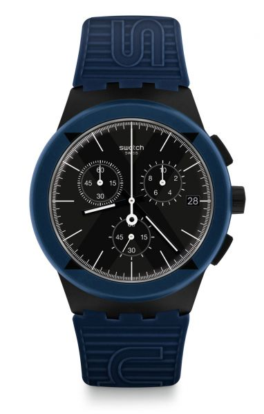 Swatch SUSB418 X-District Blue Herrenuhr ORIGINALS Chrono