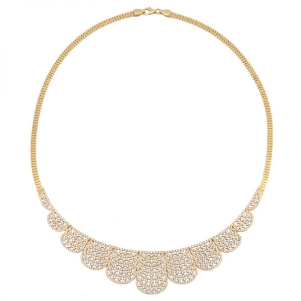 Exclusives Goldcollier Halskette 585er Gold, 45cm
