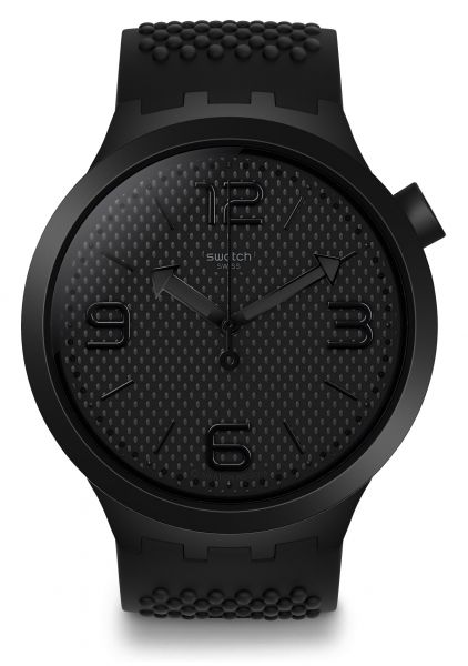 Swatch BBBlack SO27B100 Unisexuhr Originals Big Bold