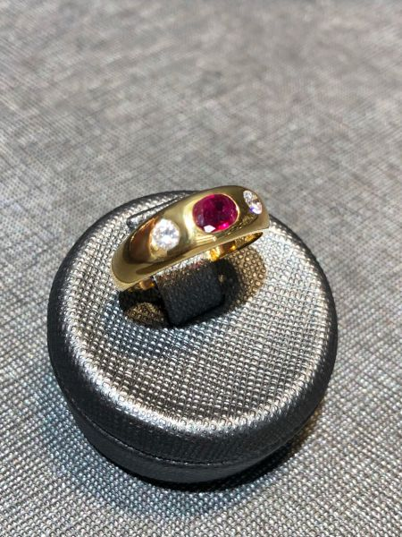 Rubin Brillant Damen Ring aus 750/- Gold EXR4037