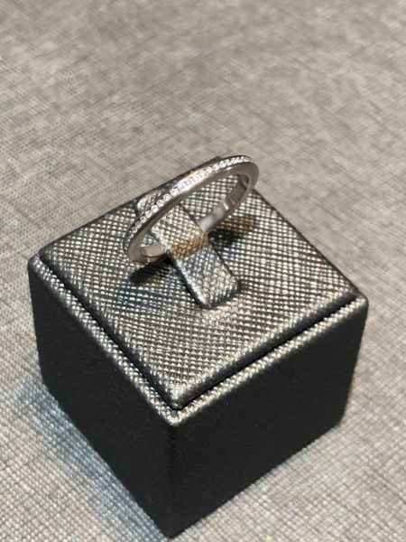 Memoire Ring mit Brillanten 750/- Graugold