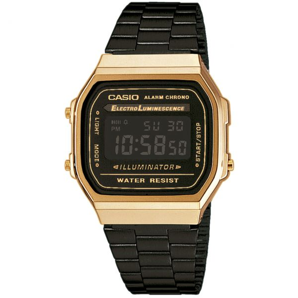 Casio Collection Unisexuhr A168WEGB-1BEF Gold Schwarz