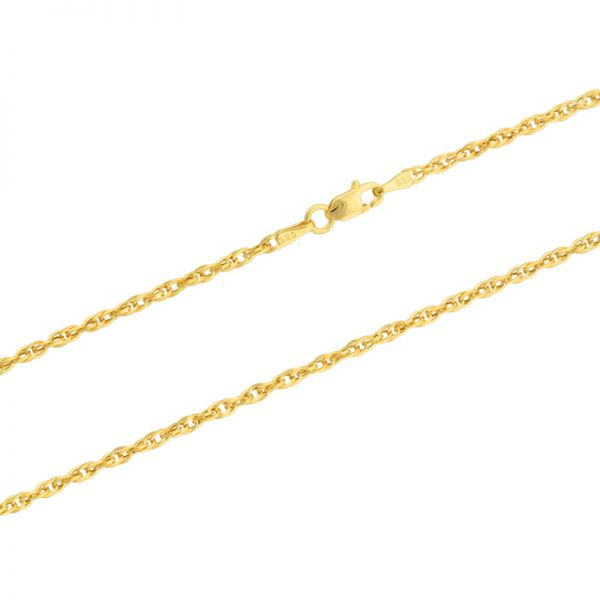 585er Goldkette Fantasie 2mm Gelbgold