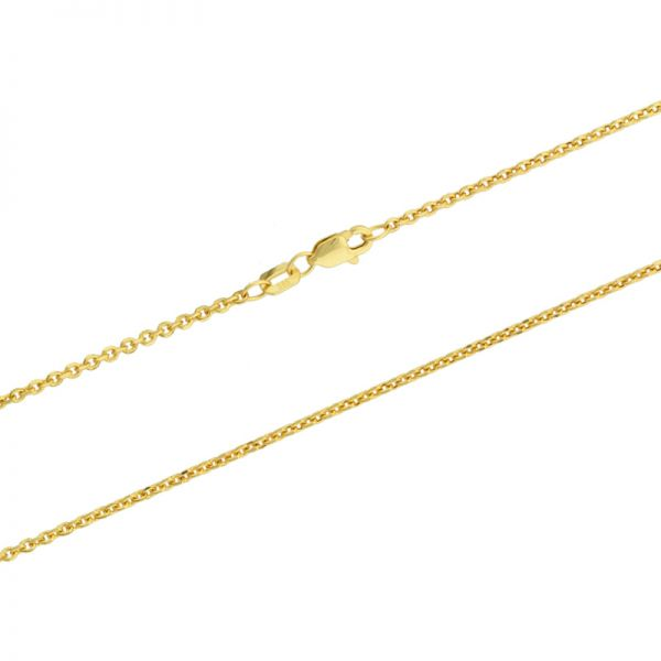 585er Goldkette Ankerkette diamantiert 1,7mm Gelbgold