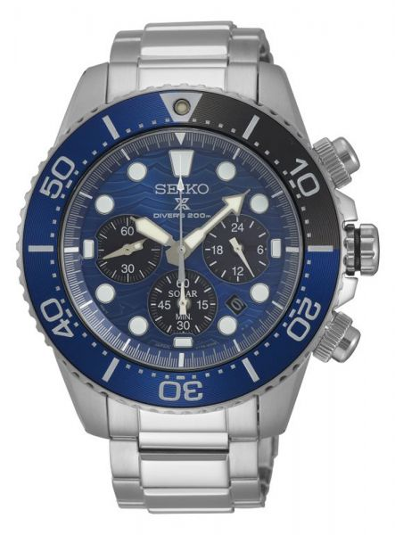 Seiko Prospex Solar Chrono Diver Save the Ocean SSC741P1 Herrenuhr