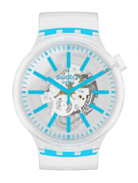 Swatch Big Bold Blueinjelly SO27E105 Unisexuhr