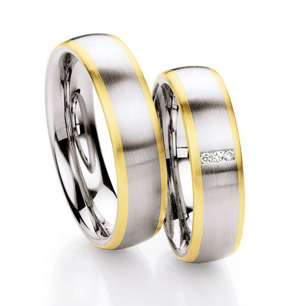 Steel Gold Brillant 585 Partnerringe 88-ST131B 88-ST131