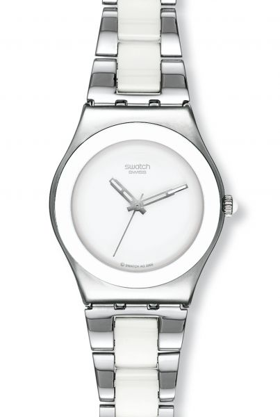 Swatch IRONY Medium Tresor Blanc Damenuhr YLS141GC