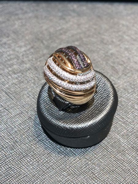 Rosé Damen Ring aus 585/- Gold EXR4029
