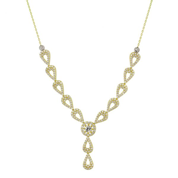 Y-Goldcollier Halskette Fantasieform 585er Gold CL16018