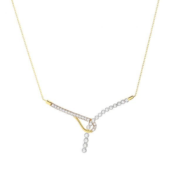 Goldcollier Halskette Fantasieform 585er Gold CL16012