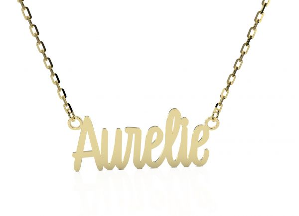 Aurelie Emotions Namenskette Louise 585 Gold AEN106