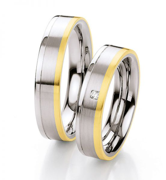Steel Gold Brillant 585 Partnerringe 88-ST136B 88-ST136