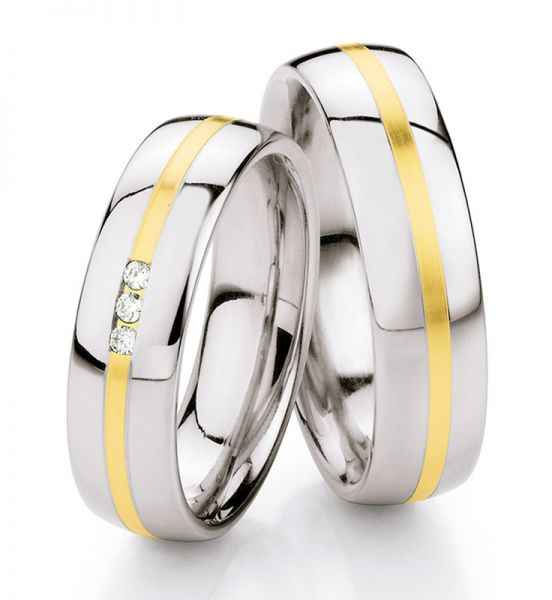 Steel Gold Brillant 585 Partnerringe 88-ST132B_88-ST132